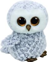 Carletto Ty 37086 - Owlette - Eule mit Glitzeraugen, Glubschi's, Beanie Boo's, Traditioneller Plüsch, 24 cm, weiss -