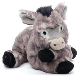 Inware 7141 - Kuscheltier Esel Karli, grau/meliert, liegend, 35 cm -