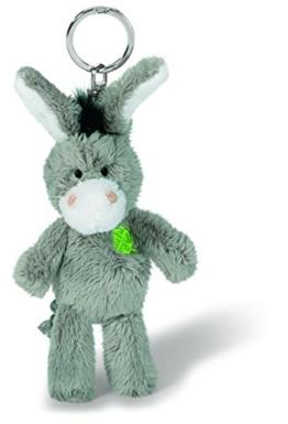 Nici 37688 - Esel mit gesticktem Kleeblatt, Plüschtier, 10 cm -
