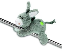 Nici 37689 - Esel MagNici mit gesticktem Kleeblatt, Plüschtier, 12 cm -