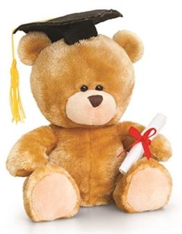 Plüschtier Bär, Pipp the Bear Abitur Abschluss, Kuscheltier Diplom Teddybär mit Kleidung ca. 20 cm -