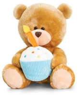 Plüschtier Bär, Pipp the Bear Happy Birthday, Teddy mit Kuchen und Kerze, Stofftier Plüschbär ca. 20 cm -
