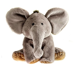 Schaffer 4232 Elefant Sugar, 19 cm, Plüschtier grau, Kuschelelefant -