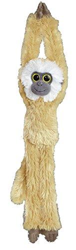 Schlenker Plüschtier hängender Affe, Farbe: Hellbraun - Weiß Kuscheltier ca. 49 cm -