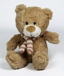 Teddy Bär Kuscheltier Plüschtier Stofftier Kuschelbär kleiner Bär | Größe : 21cm und sehr weich -