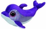 TY 36712 - Flips - Delfin mit Glitzeraugen, 15 cm, violett -