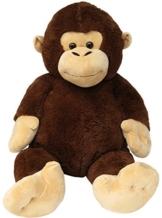 Wagner 9028 - Riesen XXL Affe 140 cm groß - Plüschbär Kuschelbär Teddy Bär 1,40 m Plüschaffe Schimpanse Teddybär -