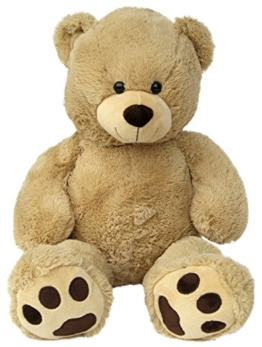 Wagner 9055 - Riesen XXL Teddybär 100 cm groß in hell-braun - Plüschbär Kuschelbär Teddy Bär in beige -