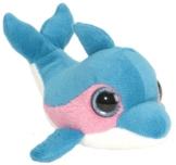 Wild Republic 17381 - Plüschtier - Li'l Sweet and Sassy, Delfin - Blue Raspberry, 13 cm -