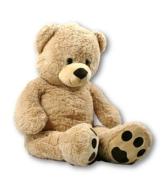 XXL Teddybär Bär 1m hellbraun Kuschelbär 100 cm Teddy Plüschtier Kuscheltier -