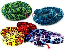 1 x Schlange aus Plüsch ca. 2m, 1 aus 5 Farben (sortiert) - 1