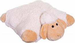Bieco 04001319 - Schaf Polly Kissen und Schmusetier in einem, ca. 45 cm - 1
