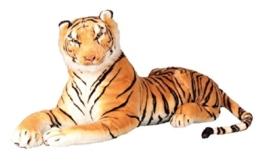 Brauner Tiger XXL Plüschtier 110 cm Kuscheltier 1,70m bis Ende Schwanz Stofftier Raubkatze braun - 1