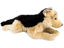 BRUBAKER Schäferhund liegend ca. 44 cm Plüschtier Stofftier - 1