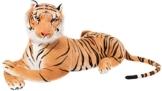 BRUBAKER Tiger braun 110 cm Stofftier Plüschtier - 1