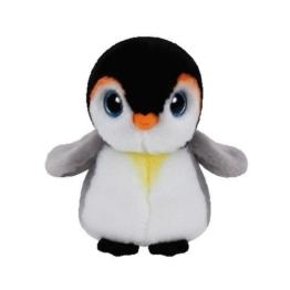 Carletto Ty 42121 - Pongo - Pinguin mit Glitzeraugen, Beanie Classic, 15 cm - 1