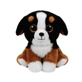Carletto Ty 42184 - Roscoe - Hund mit Glitzeraugen, Beanie Classic, 15 cm, schwarz/weiß - 1
