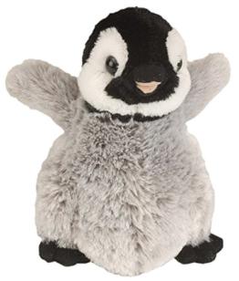 Cuddlekins Plüschtier grau - schwarz Pinguin, Kuscheltier ca. 20 cm - 1