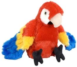 Cuddlekins Plüschtier roter Ara Papagei, Kuscheltier Vogel ca. 20 cm - 1