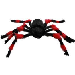 Dcolor 75cm grosse Spinne Plueschtier / Halloween Dekoration Rot und Schwarz - 1