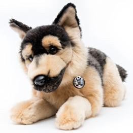 Deutscher Schäferhund CHARLIE liegend 37 cm Plüschtier von Kuscheltiere.biz - 1