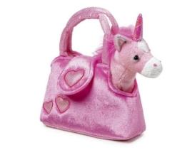 """Einhorn  """"Fina"""" in der Tasche aus kuschelweichem Plüsch, mit einer niedlichen Handtasche ideal zum Mitnehmen, für kleine Damen ab 3 Jahren - 1"""