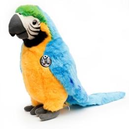 Gelbbrustara KAIKO 50 cm Papagei Ara gelb blau Plüschtier von Kuscheltiere.biz - 1