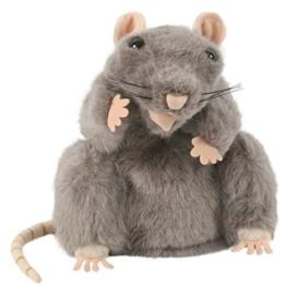 Handpuppe - Ratte Maus / grau Mäuse - Nagetier Ratten Tier - Haustier Bauernhof - Handspielpuppe / Haustiere - Kuscheltier Mäuse Plüschtiere - für Kinder & Erwachsene - 1