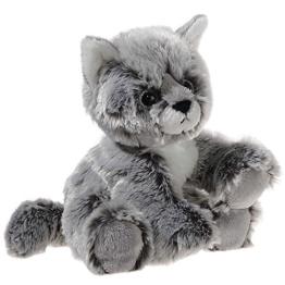 Heunec 246775 - Plüschtier - Glitter-Kitty Katzen-Baby graumeliert, 20 cm - 1
