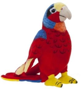 Heunec 285576 - Softissimo Papagei, 20 cm - 1