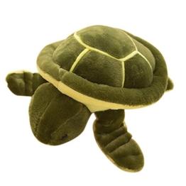 Hosaire 1 Stück Puppe Kissen Niedliche Schildkröte Modellieren Plüsch Spielzeug Kinder Spielzeug Geburtstag Geschenke,Waschbar,23x23 cm - 1