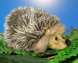Igel Hedgehog Plüschtier 15 cm grau - 1