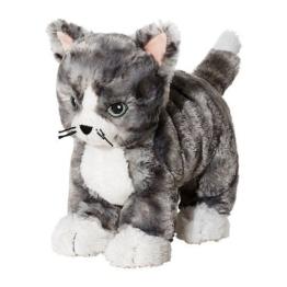 IKEA LILLEPLUTT Stofftier Katze; in grau - 1