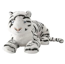 """IKEA Stofftier """"ÖNSKAD"""" Plüschtier weißer Tiger - 60 cm Länge - sehr kuschelig - waschbar - SICHERHEITSGETESTET - 1"""