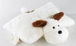 infactory Plüschkissen: Plüschtier-Kissen Hund (Plüschtier-Kissen für Kind, Baby) - 1