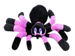 Inware 6920 - Kuscheltier Spinne, lila/schwarz, 45 cm, Schmusetier - 1