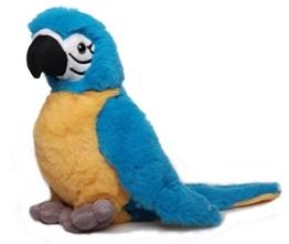 Inware 7497 - Kuscheltier Papagei Peter, blau/gelb, 20 cm - 1