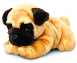 Keel Toys Plüschtier Hund Mops, Kuscheltier liegend ca. 30 cm - 1