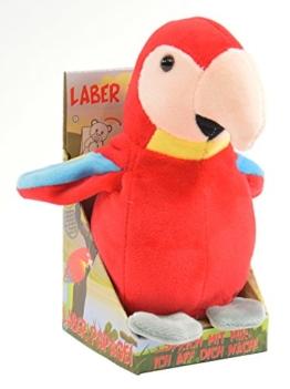 Kögler 75631 - Laber-Papagei, plappert alles nach-Plüsch - 1