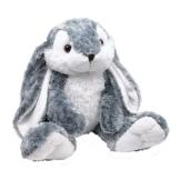 Kuscheltier Hase mit flauschigem Fell aus Plüsch ein perfektes Ostergeschenk, mit niedlichen Knopfaugen ein treuer Begleiter von Geburt an - 1