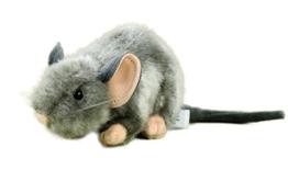 Kuscheltier Maus liegend 17 cm grau Plüschtier Plüschmaus - 1