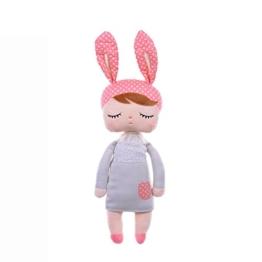Lalang Baby Stofftier Spielzeug Stoffspielzeug Baumwolle Gefüllte Kaninchen Plüschtier (grau) - 1