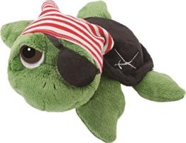Li'l Peepers 14185 - Original Suki Plüschtier Schildkröte Rocky als Pirat, 25.4 cm, grün - 1