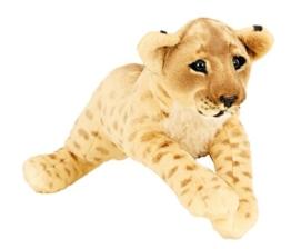 Löwe Baby liegend Plüschtier ca. 60 cm Kuscheltier Softtier Raubkatze Stofftier - 1