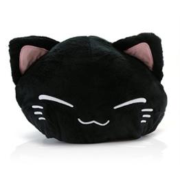 Nemu Neko Nemuneko Sleepy Cat Plüsch Schwarz mit roten Koi NEU! 40 x 30 cm Plüschtier Plüschfigur Plüschi XXL Kuscheltier Katze - 1