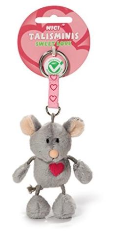 """Nici 37388 - Maus Talisminis """"Sweet Love"""", 7 cm, Bean Bag Schlüsselanhänger - 1"""