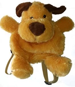 PANGIFRIENDZ Rucksack Plüsch Plüschtier Kinderrucksack Plüschrucksack Tasche HUND ENTE HASE (Hund) - 1