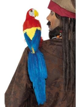 Papagei 50cm mit Gummi-Halterung, One Size - 1