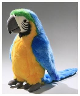 Papagei blau-gelb aus Plüsch ca. 28cm von Carl Dick - 1
