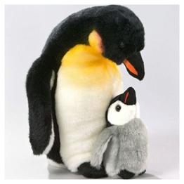 Pinguin mit Baby aus Plüsch, ca. 32cm von Carl Dick - 1